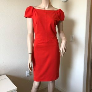 Diane von Furstenberg red Cold Shoulder  Dress